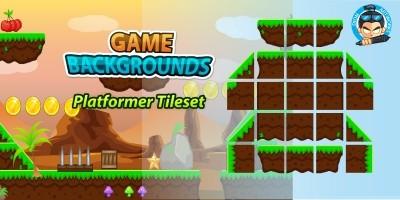 Plat Former Tile Sets Game BG 09