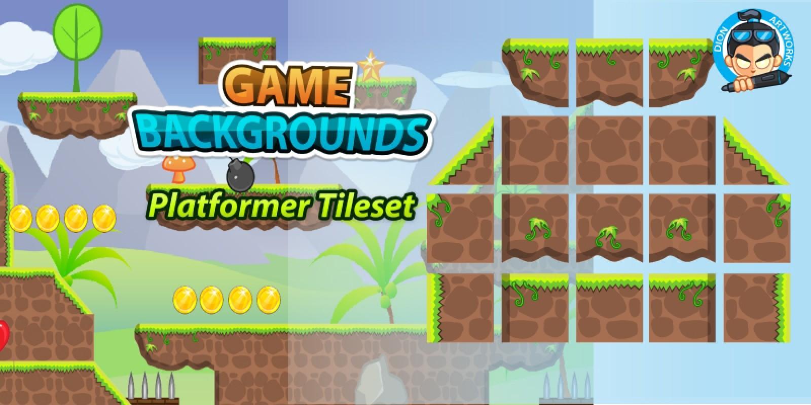 Plat Former Tile Sets Game BG 10