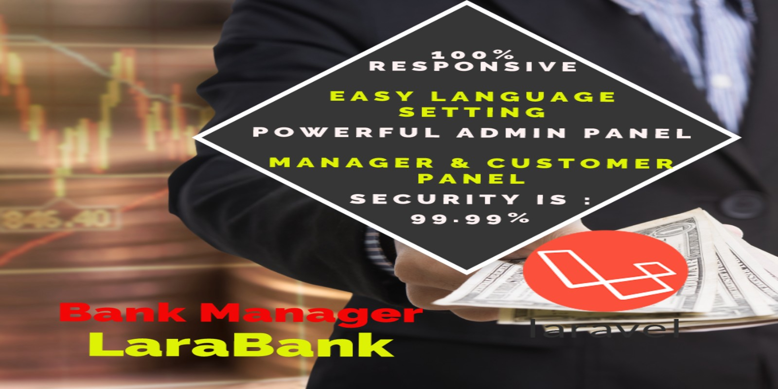 LaraBank CMS - Bank Management System