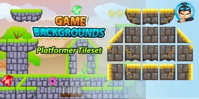 Plat Former Tile Set Game BG 12
