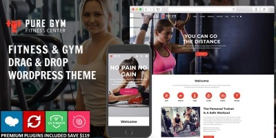 PureGym - Gym Fitness WordPress Theme