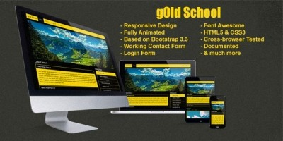 Gold School - Responsive  Bootstrap HTML Template