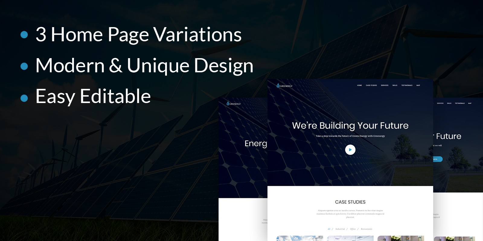 Energy Management Landing Page HTML Template