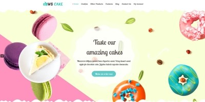 WS Cake - Wordpress theme