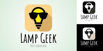 Logo Template Lamp Geek