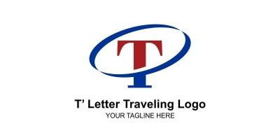T Letter Traveling Logo