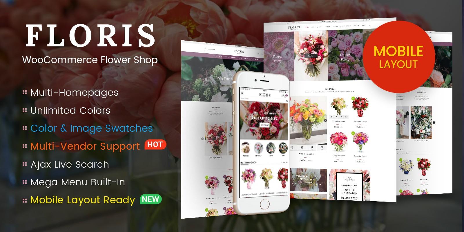 Floris - WooCommerce Flower Shop WordPress Theme