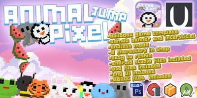 Animal Jump Pixel Buildbox Template
