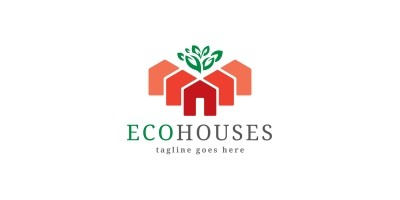 Eco Houses Logo Temolate