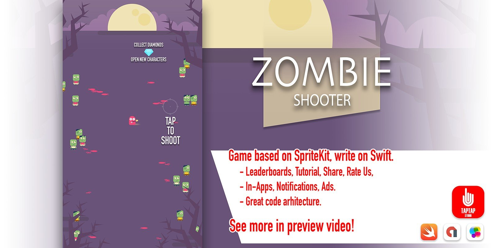 Zombie Shooter - iOS Source Code