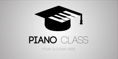 Logo Template Piano class