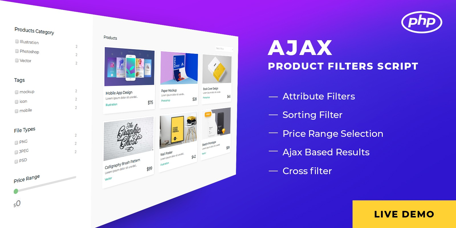 Ajax Products Filter Script