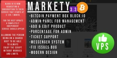 Markety - Multi-Vendor Marketplace In Bitcoin PHP