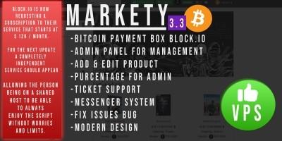 Markety - Multi-Vendor Marketplace In Bitcoin PHP