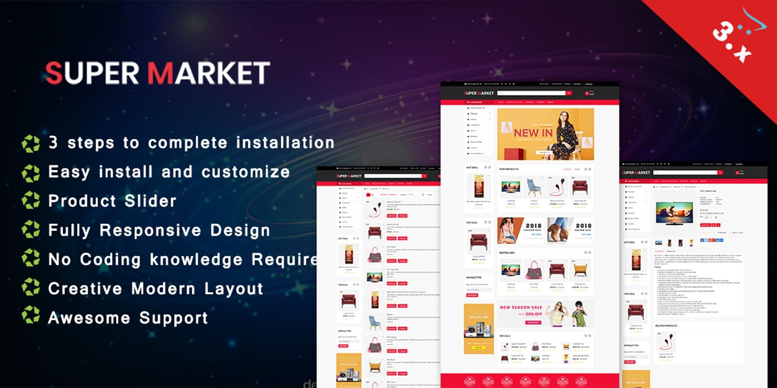 Super Market - Opencart Template