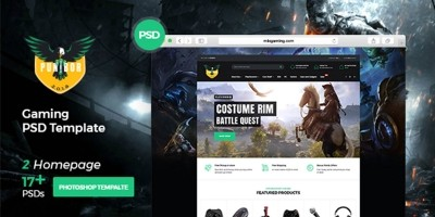 Punibor Gaming – Powerful PSD Template