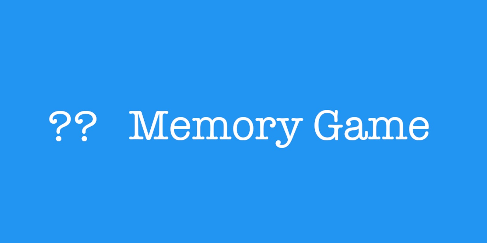 Memory Game Xcode Project