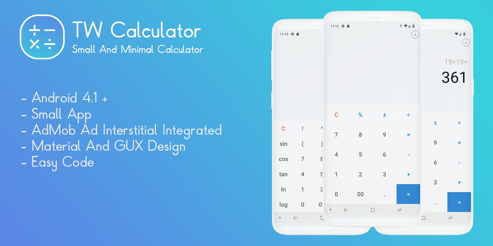 TW Calculator - Android App Template