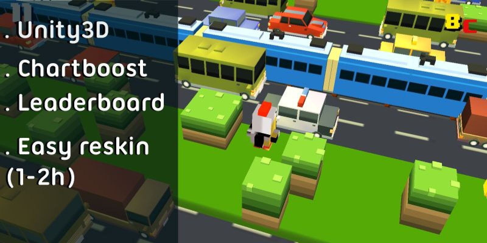 Crossy Road City - Unity Game Source Code