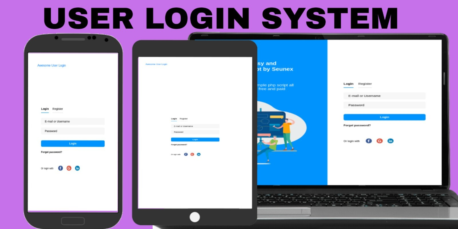 Awesome User Login  System PHP