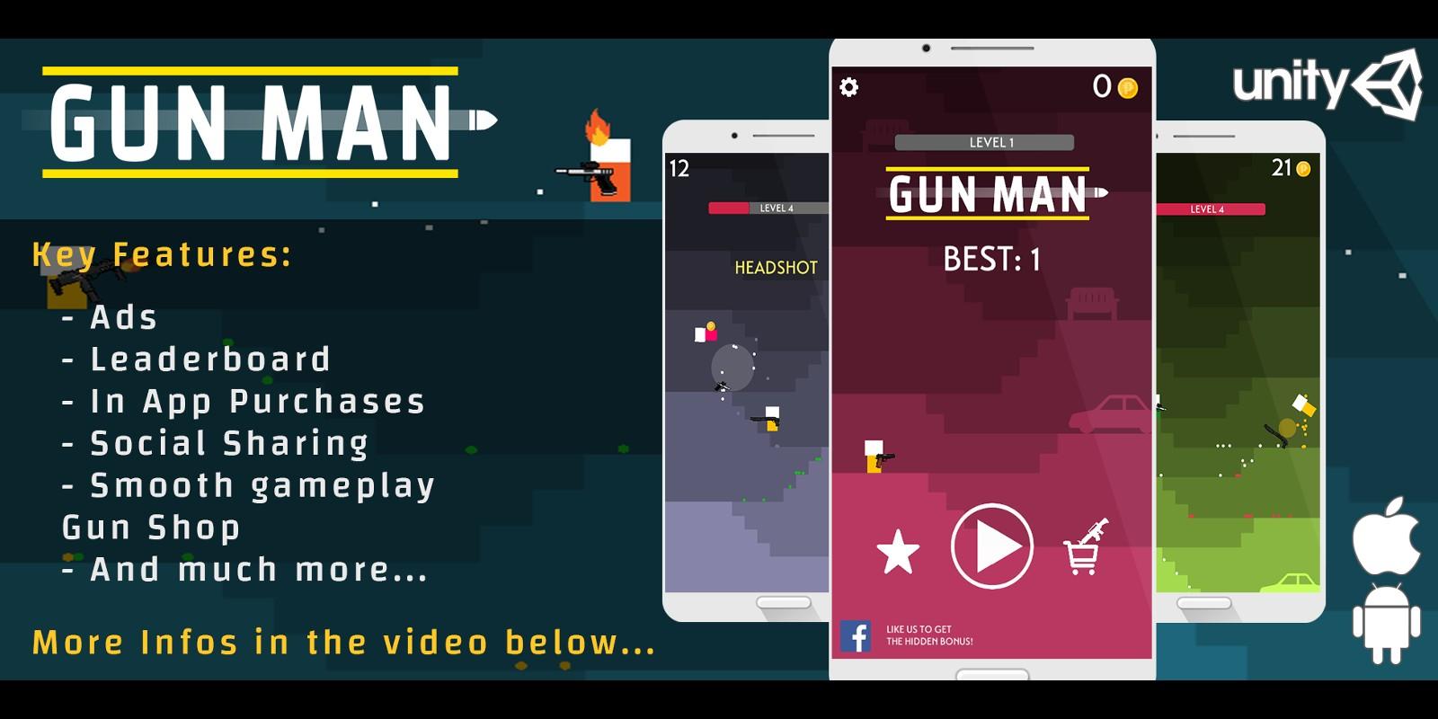 Gun Man - Unity Game Template