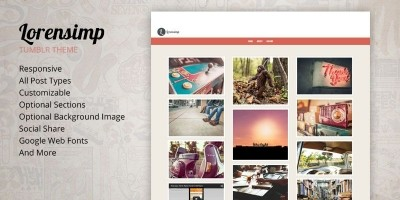 Lorensimp - Responsive Tumblr Theme