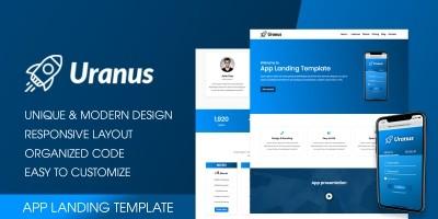 Uranus - App Landing HTML Template