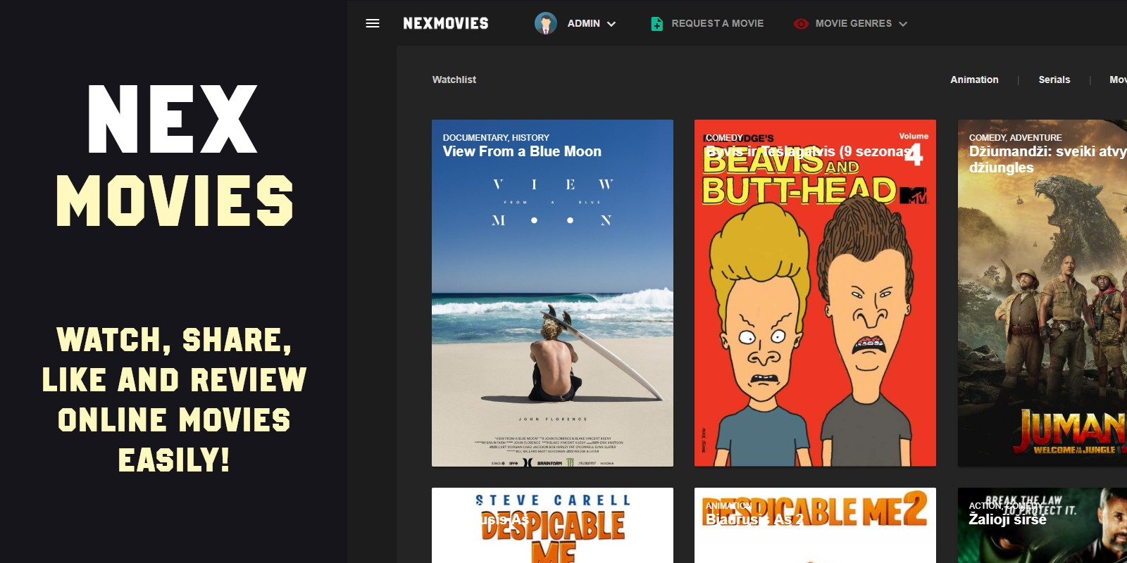 NexMovies - Online Movies And TV Platform Script