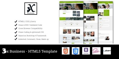 3x Business - Corporate Business Template