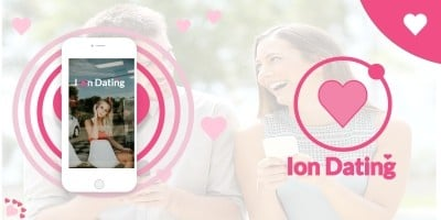 Ion Dating - Ionic Dating App UI Theme