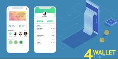 Wallet - Android Studio UI Kit
