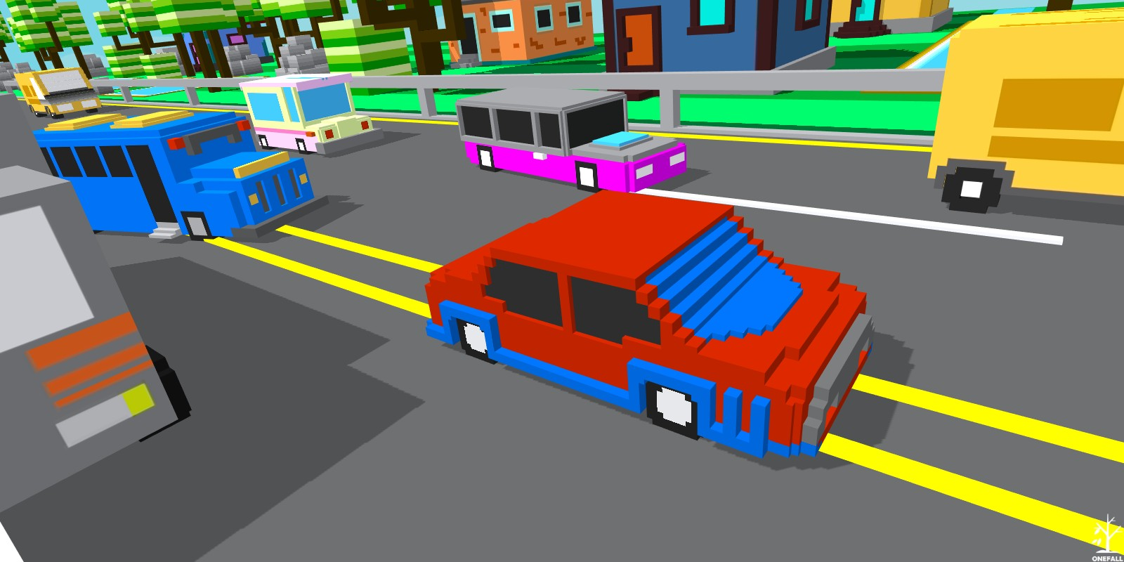 Unity Game Template - Blocky Highway