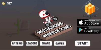 Motocross Wheelie King Buildbox Template