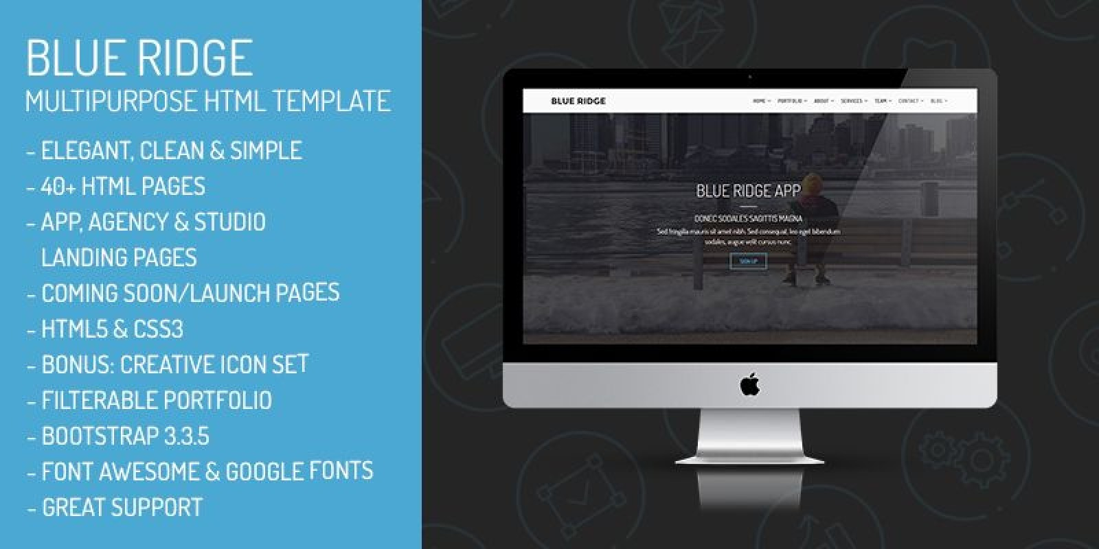 Blue Ridge - MultiPurpose Portfolio HTML Template