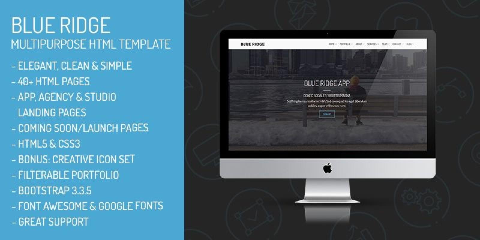 Blue Ridge - MultiPurpose Portfolio HTML Template - HTML Portfolio ...