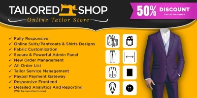 Online Tailored Shop – Online Tailor Store Scrip