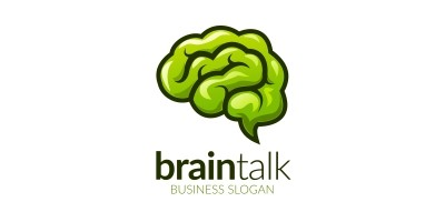 Think Green Brain Logo in Vector Format
