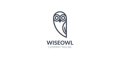 Black And White Owl Logo