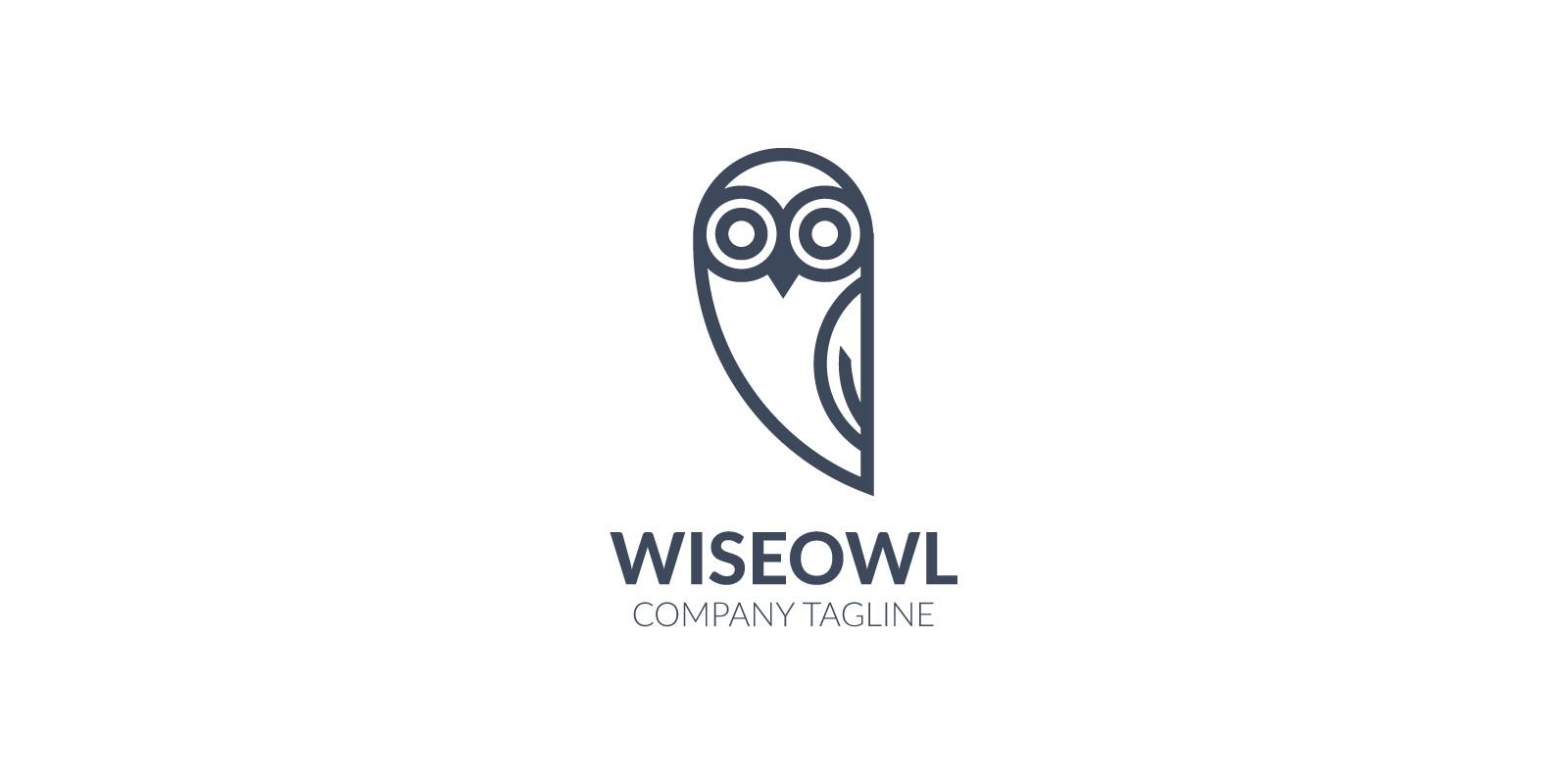 Black And White Owl Logo