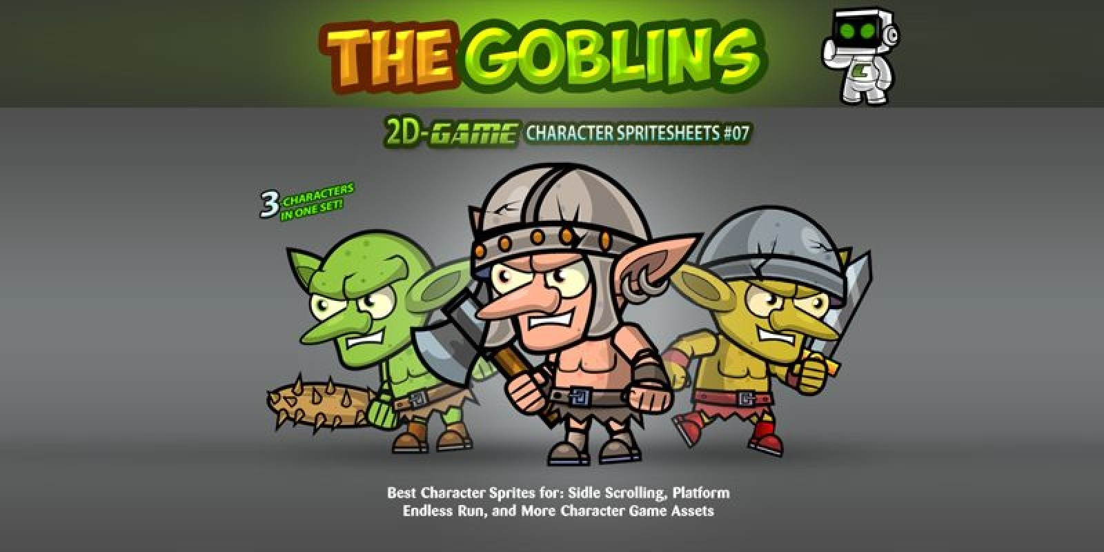 Goblin Enemies Game Character Sprites 07