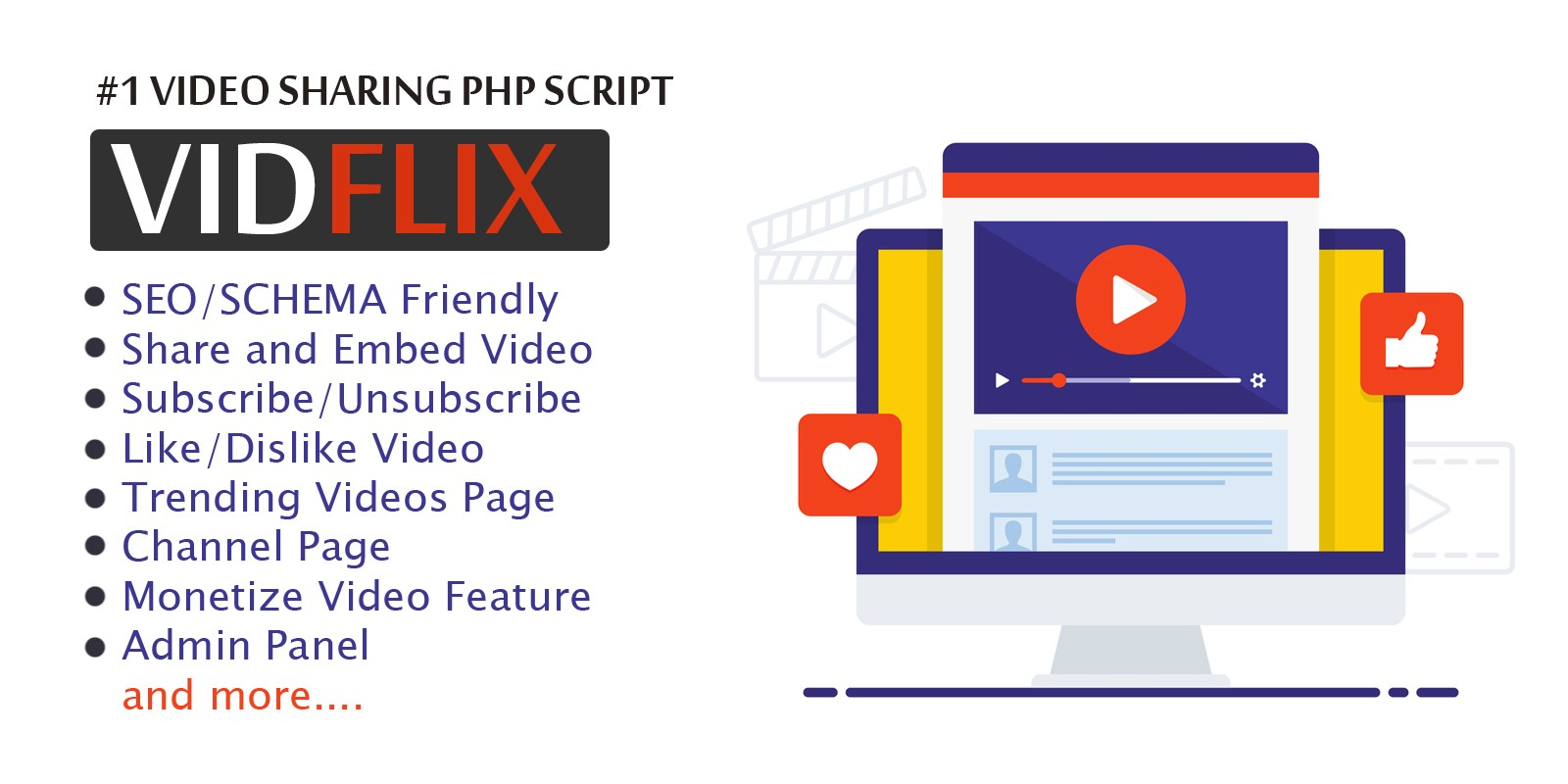 Vidflix - Video Sharing Platform PHP