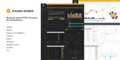 Xixian Admin Bootstrap 4 Dashboard