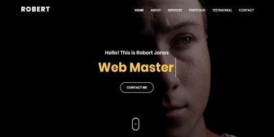 Robert - Personal Portfolio HTML Template