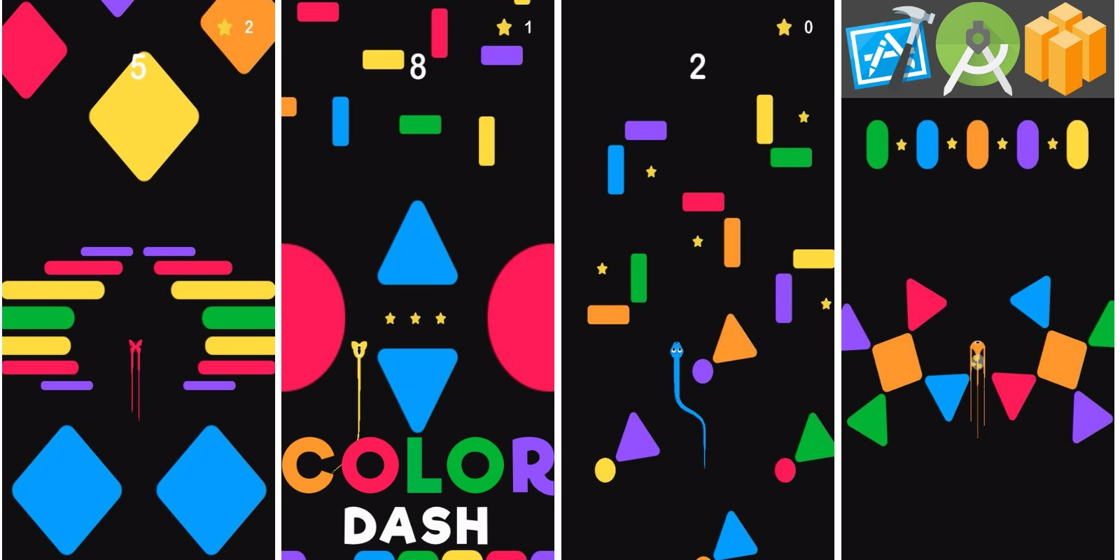 Color snake Dash  Buildbox Template