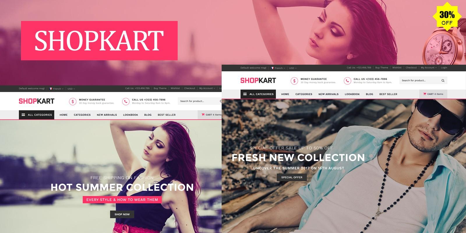 Shopkart - Multipurpose E-Commerce HTML Template
