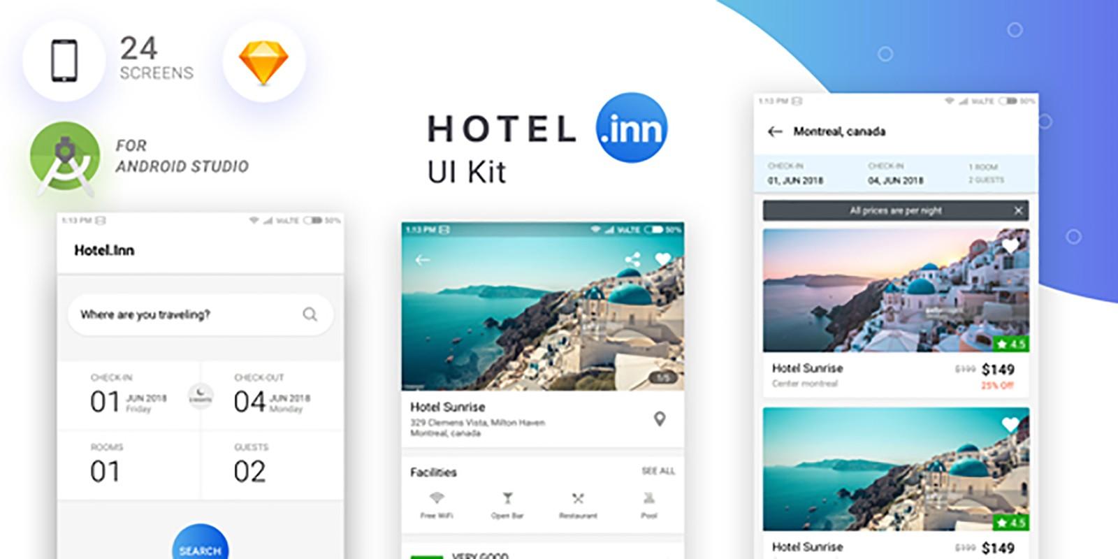 Hotel-Inn Android Studio UI KIT