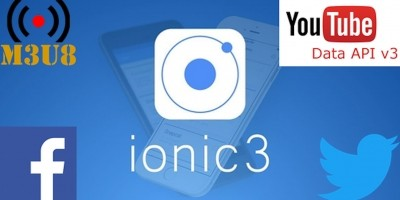 Ionic 3 Media App with YouTube API and HLS