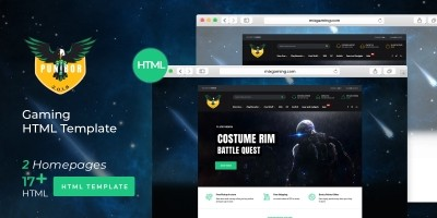 Punibor Gaming - Powerful HTML Template