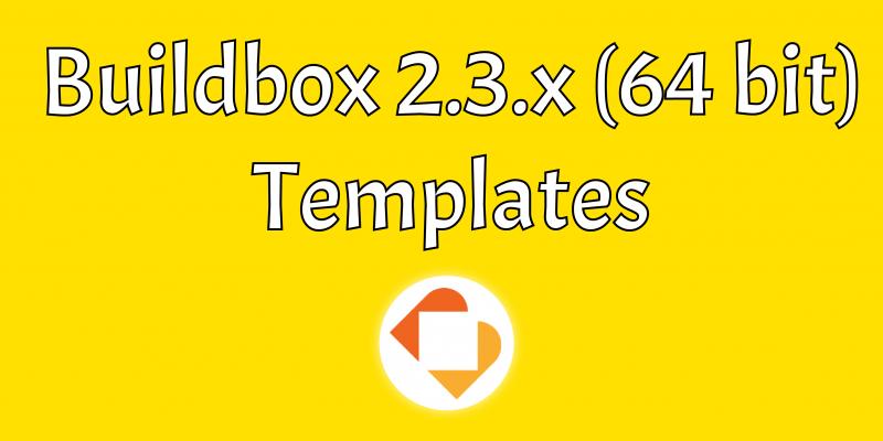 Buildbox 2.3.x 64bit Templates