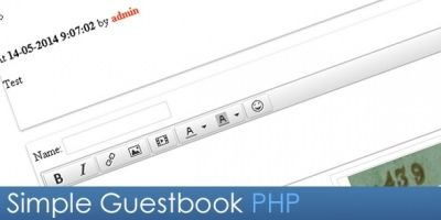 Simple Guestbook PHP Script